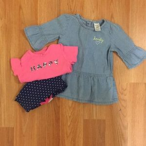Girls body suit with a bonus top and leggings